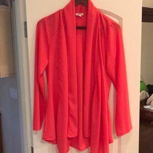 Jackets & Blazers - Drapey coralish pink jacket